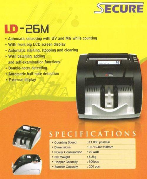 Mesin Hitung Uang & Pendeteksi Uang Palsu SECURE LD-26M