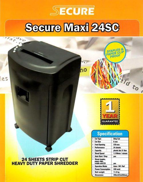 Mesin Penghancur Kertas Paper Shredder SECURE Maxi 24SC