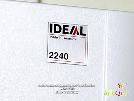 Mesin Penghancur Kertas Paper Shredder IDEAL 2240 SC Logo IDEAL Made in Germany