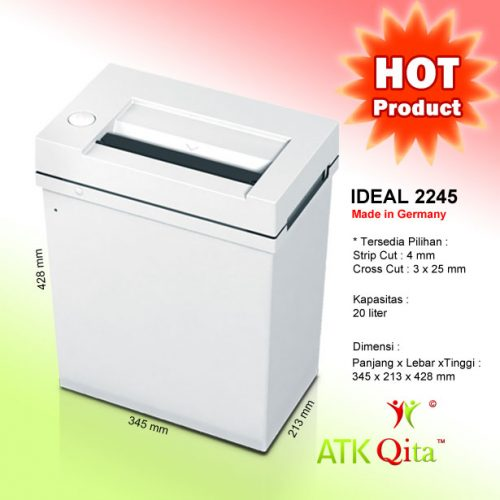 Mesin Penghancur Kertas Paper Shredder IDEAL 2245