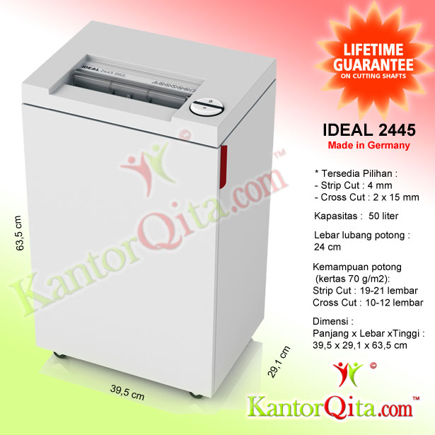 Mesin Penghancur Kertas Paper Shredder IDEAL 2445 SC Strip Cut