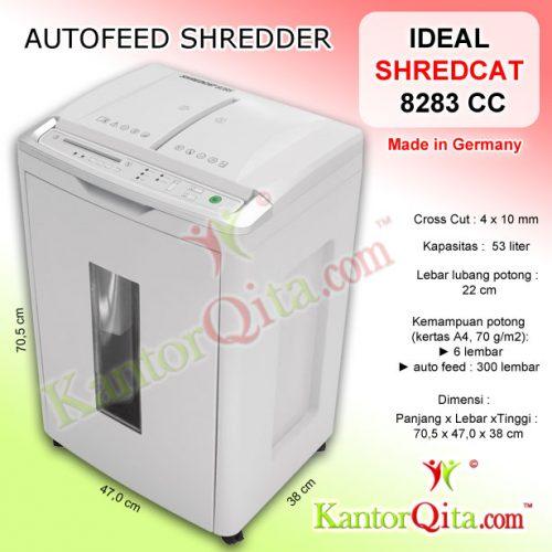 Penghancur Kertas Autofeed Shredder IDEAL 8283