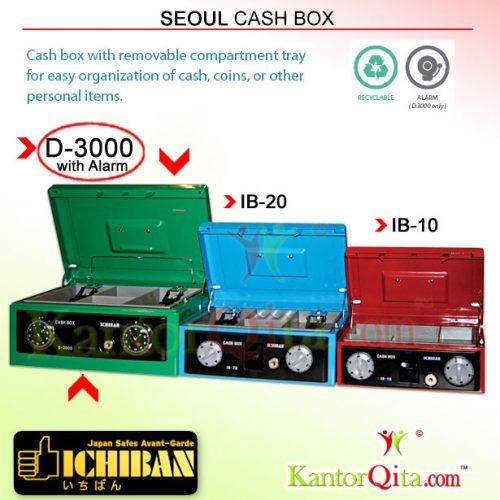 Cash Box ICHIBAN D-3000 Seoul dengan Alarm