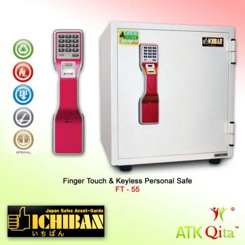 Brankas ICHIBAN FT-55 Finger Touch Digital Tahan Api