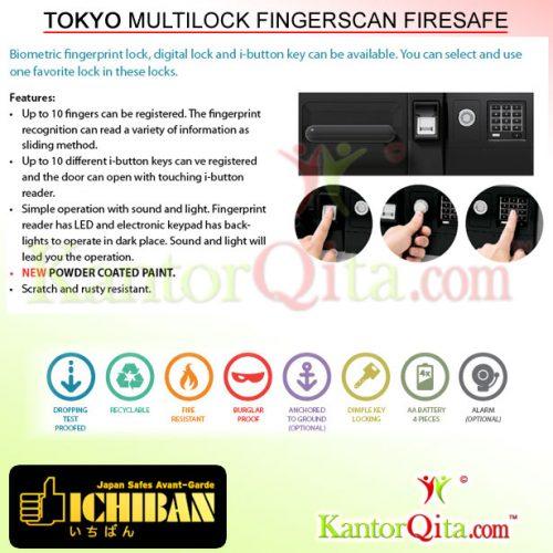 Brankas ICHIBAN FT All Types Descriptions Tokyo Multilock Sidik Jari