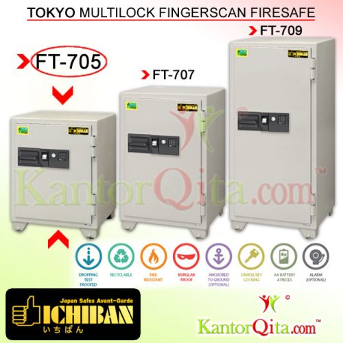 Brankas ICHIBAN FT-705 Tokyo Multilock Sidik Jari