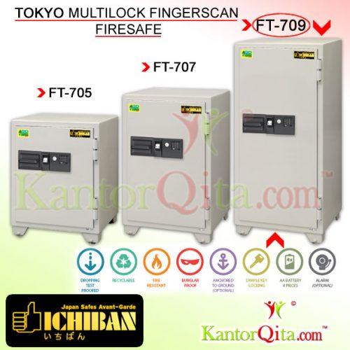 Brankas ICHIBAN FT-709 Tokyo Multilock Sidik Jari