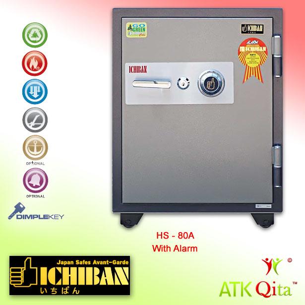 Brankas ICHIBAN HS-80A Dial Safe Tahan Api
