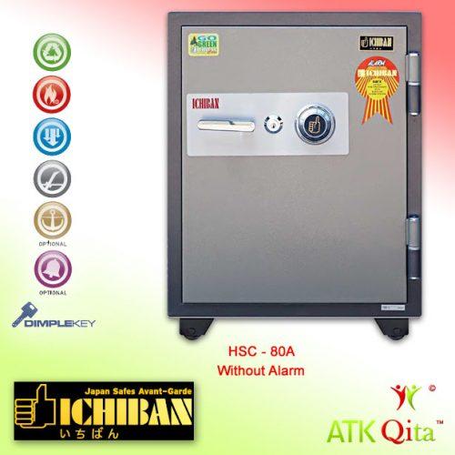 Brankas ICHIBAN HSC-80A Dial Safe Tahan Api