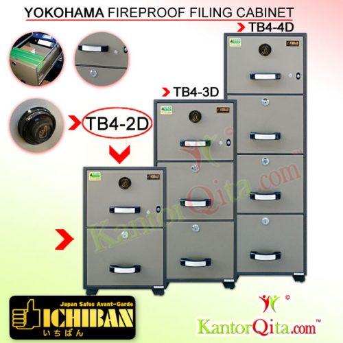 Filing Cabinet ICHIBAN TB4-2D Yokohama Fireproof
