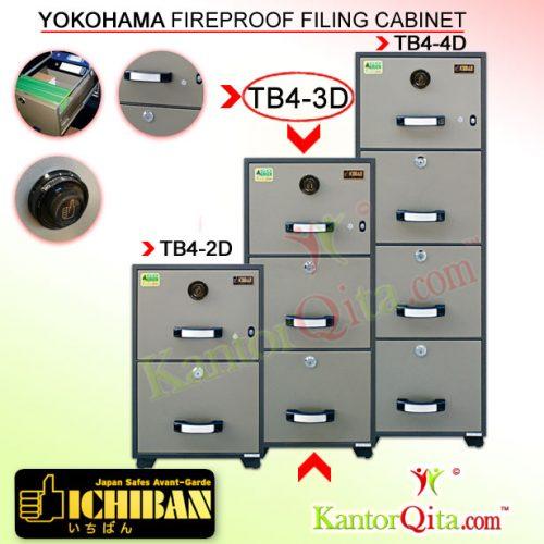 Filing Cabinet ICHIBAN TB4-3D Yokohama Fireproof