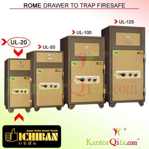 Brankas ICHIBAN UL-20 Rome Drawer To Trap Firesafe