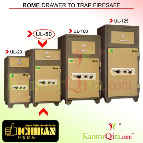 Brankas ICHIBAN UL-50 Rome Drawer To Trap Firesafe