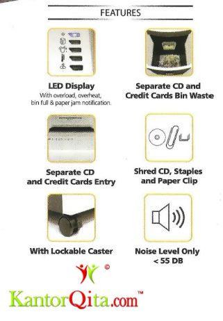 Mesin Penghancur Kertas Paper Shredder Secure MAXI 34 SCM Features