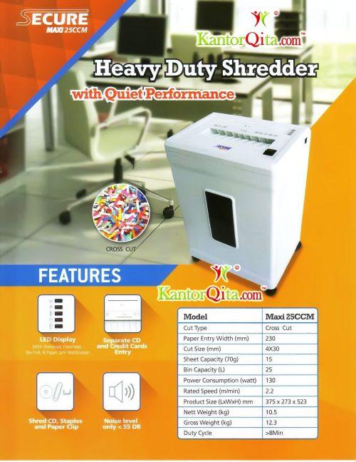 Mesin Penghancur Kertas Paper Shredder SECURE Maxi 25 CCM