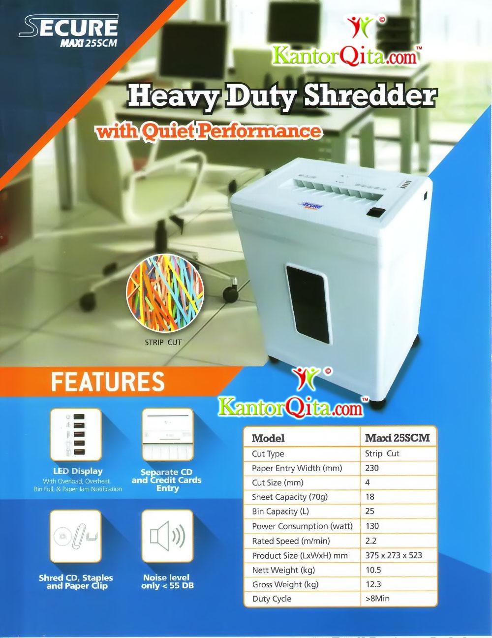 Mesin Penghancur Kertas Paper Shredder SECURE Maxi Secure Maxi 25 SCM