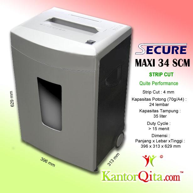 Mesin Penghancur Kertas Paper Shredder Secure Maxi 34 SCM