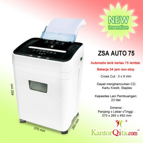 Mesin Penghancur Kertas Paper Shredder Otomatis ZSA AUTO 75
