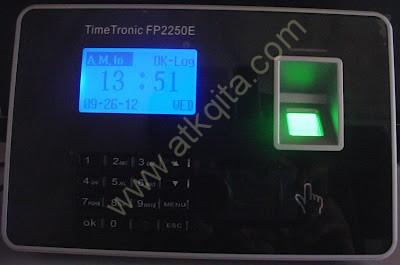 Mesin Absensi Sidik Jari Finger Print TimeTech FP2250E